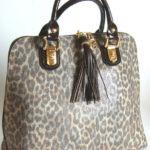 Blu StyleTote bag, patentläder med tryckt mönster