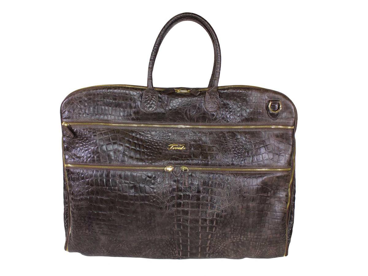 terrida evergladesresegarderob crocopräglat läder ev003 italienska  väskbutiken 6458955e71022