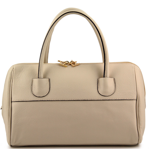 Handväska Tuscany Leather TL Bag Bauletto with golden hardware