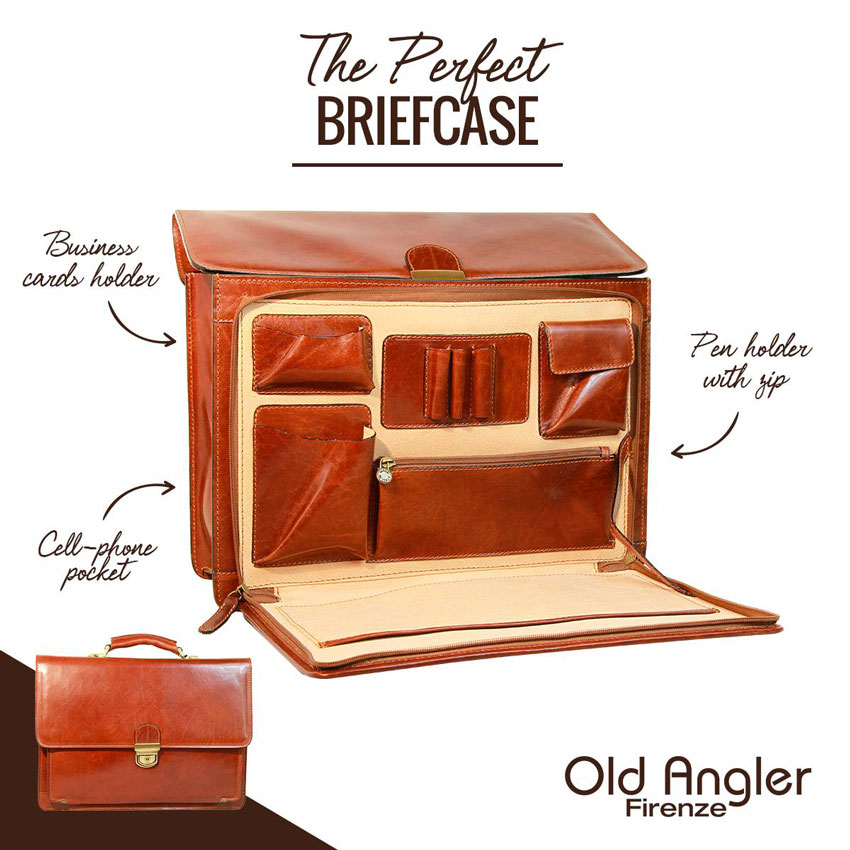 OLD ANGLER BRIEFCASE