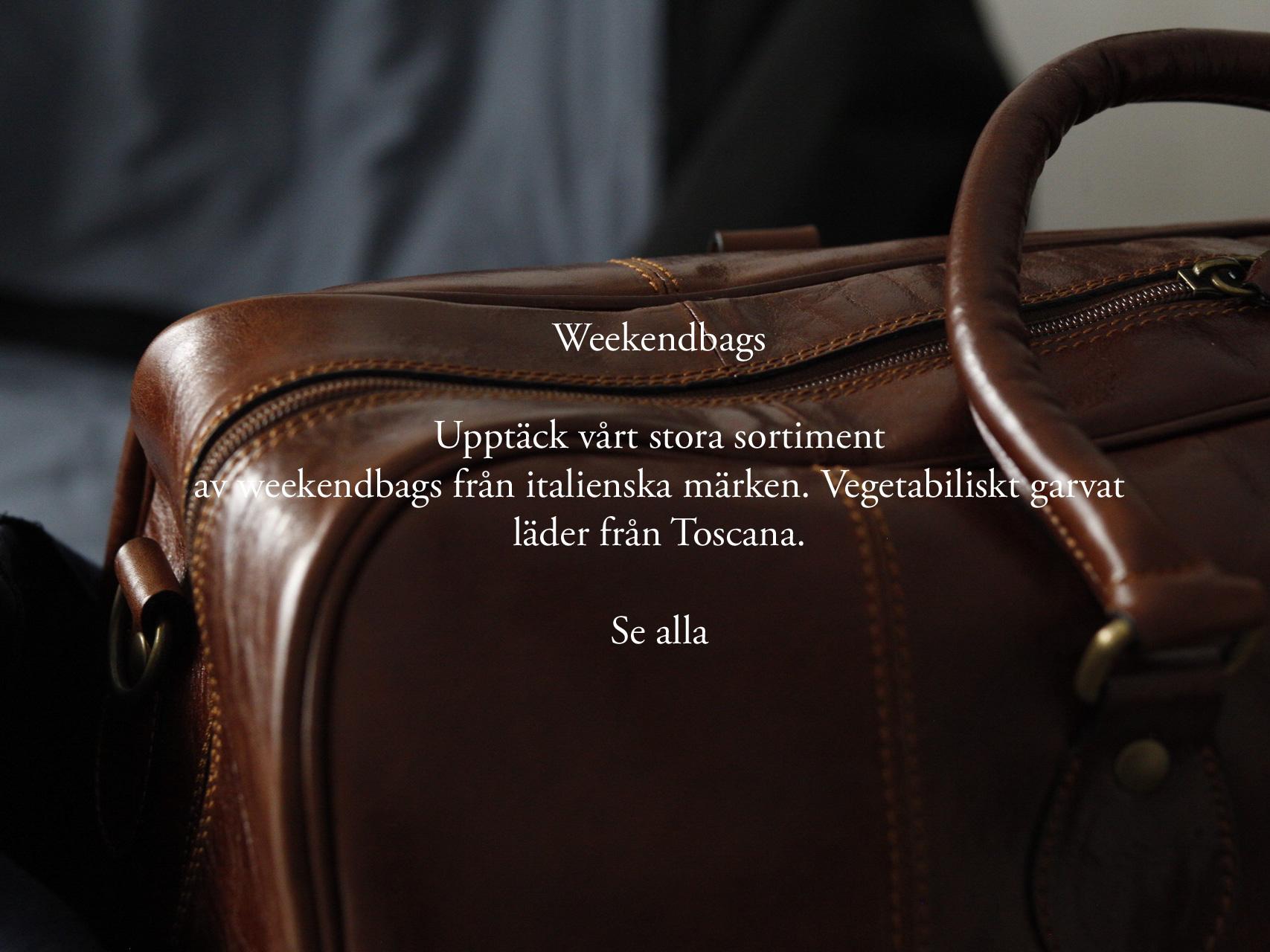 Weekendbags från italienska märken