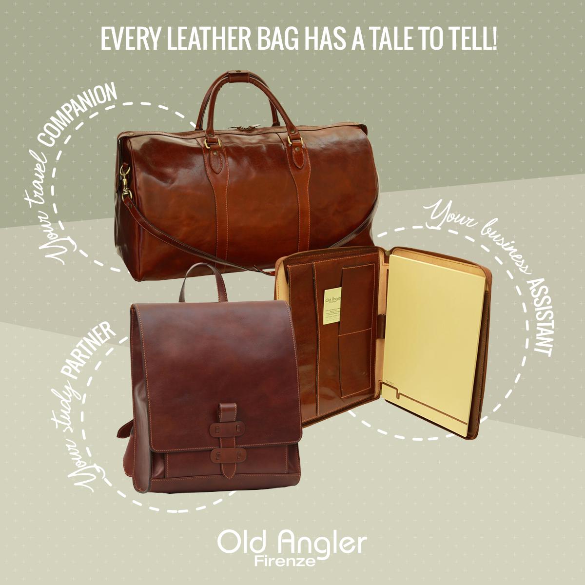 Läderväskor Old Angler