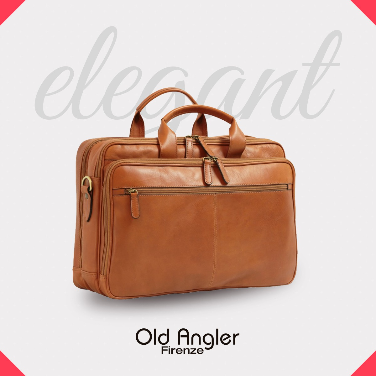 Old Angler Leather Briefcases