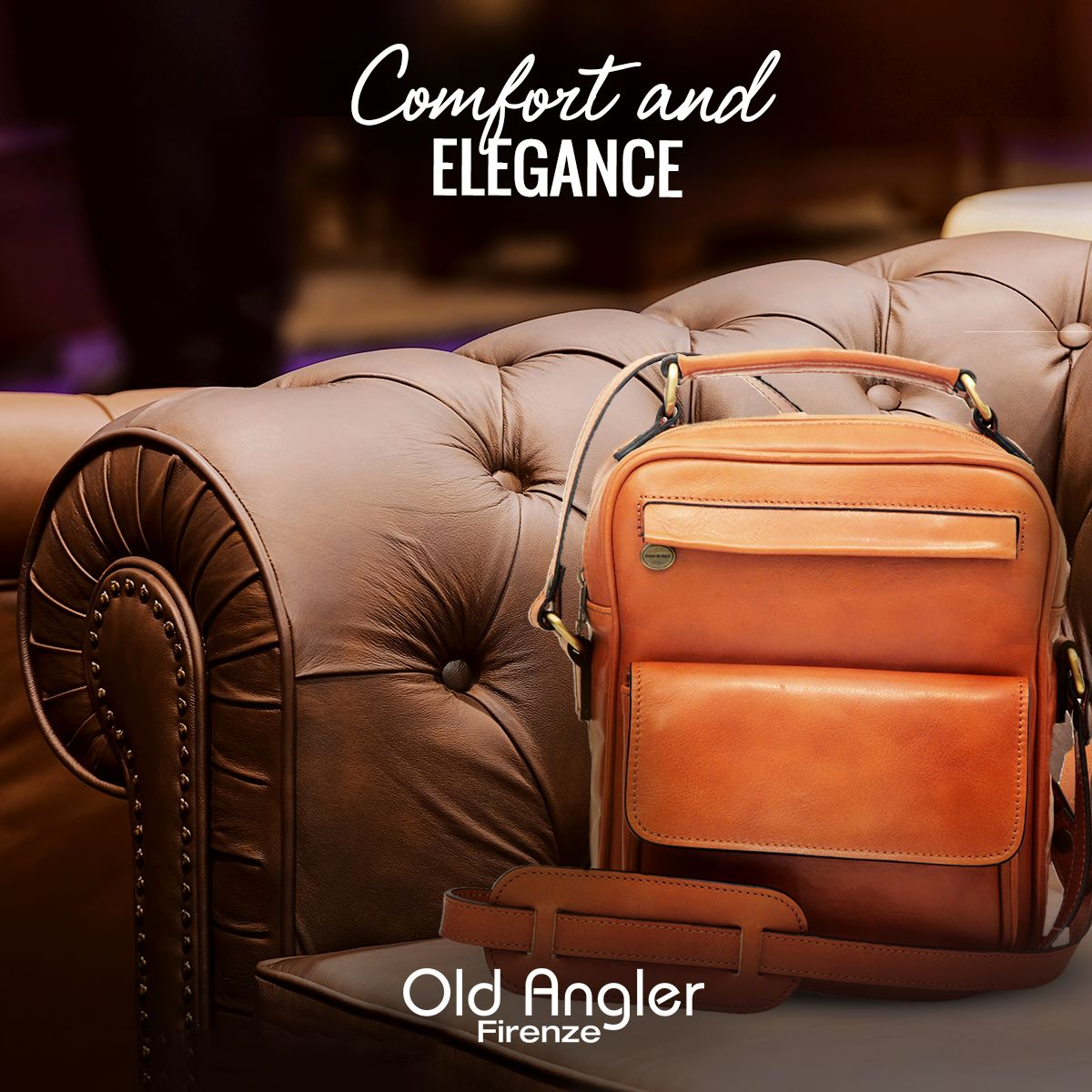Old Angler Leather Messenger bags