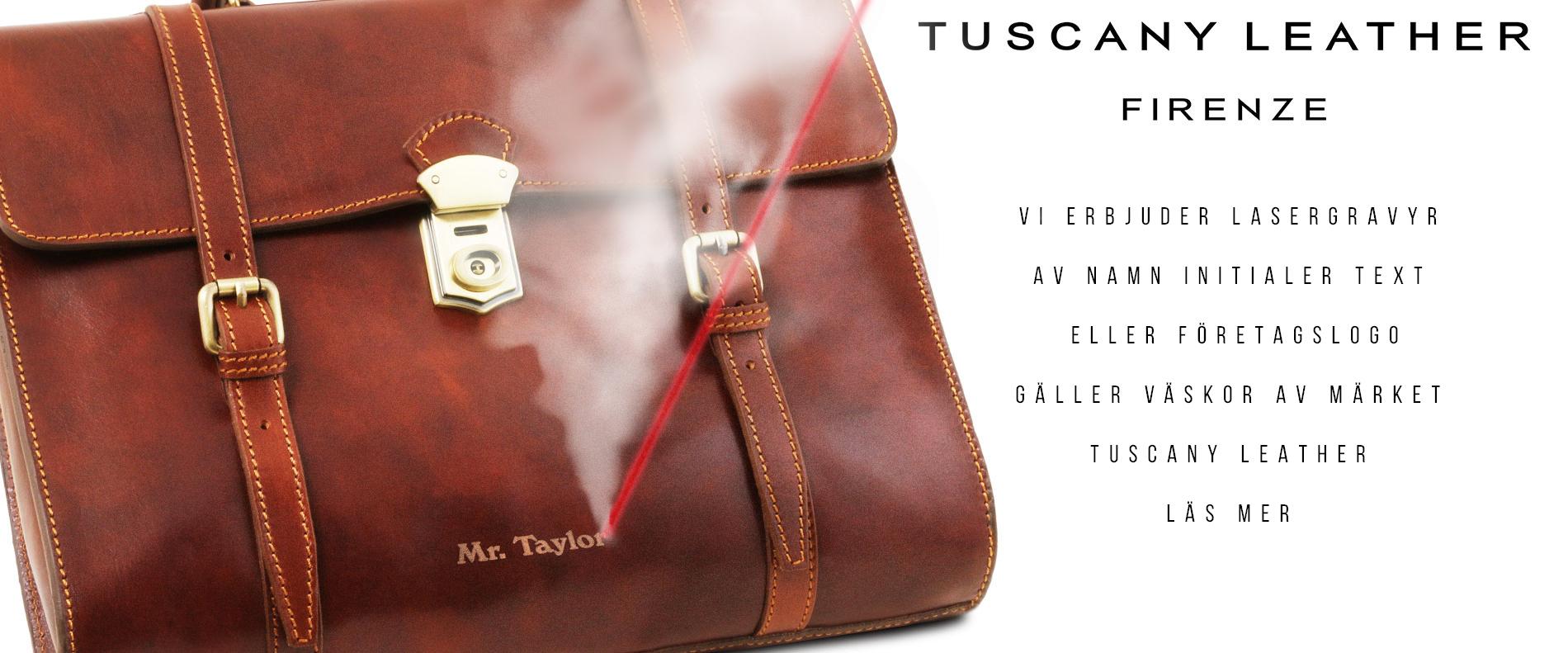 Erbjudande gravyr av väskor från Tuscany Leather