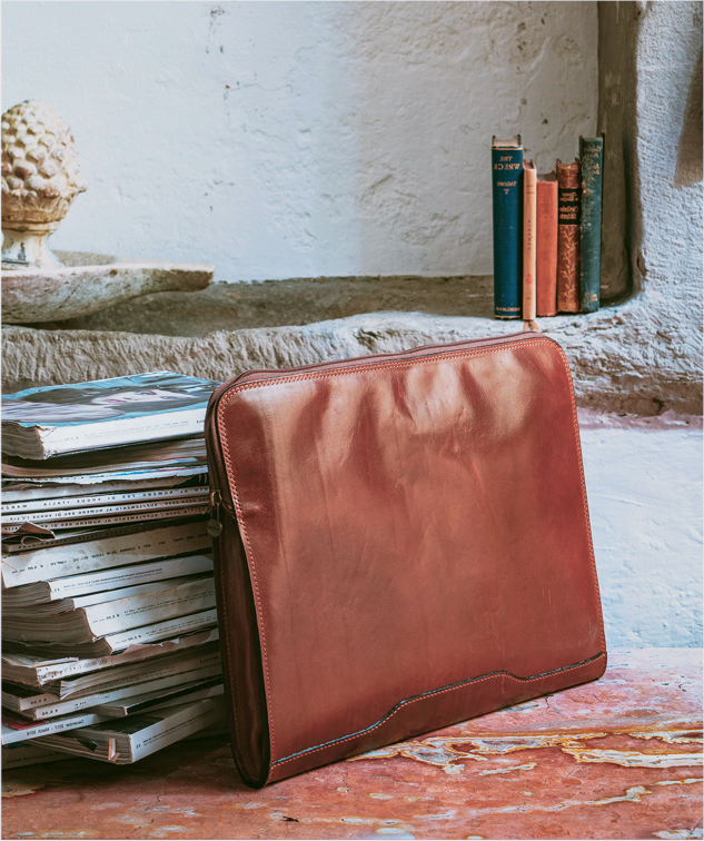 Portföljer i italienskt läder från Toscana